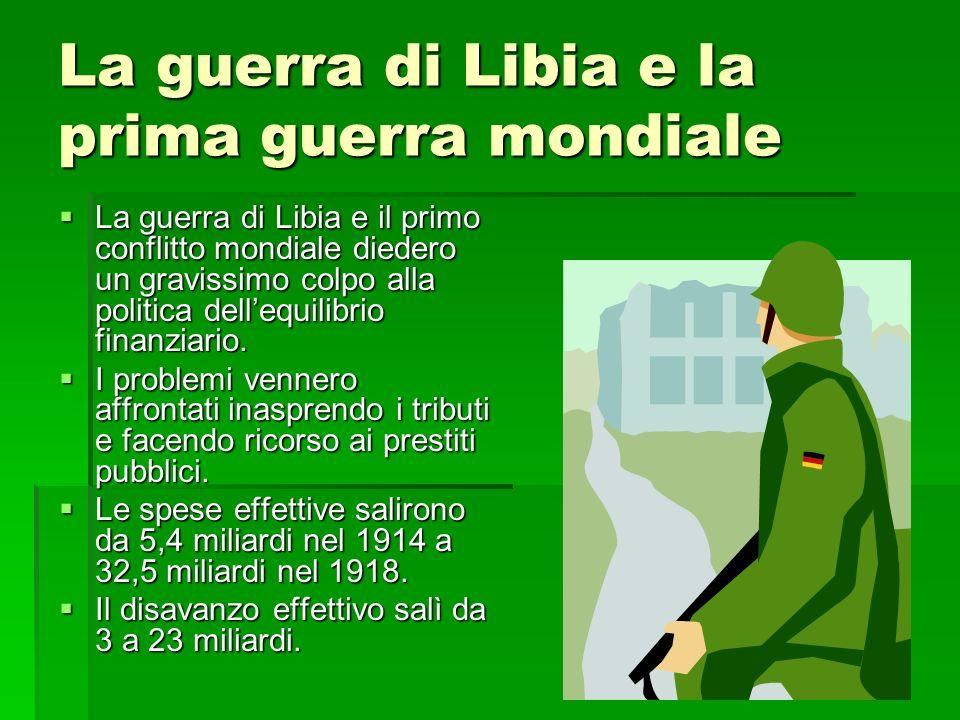 La guerra di Libia e la prima guerra mondiale