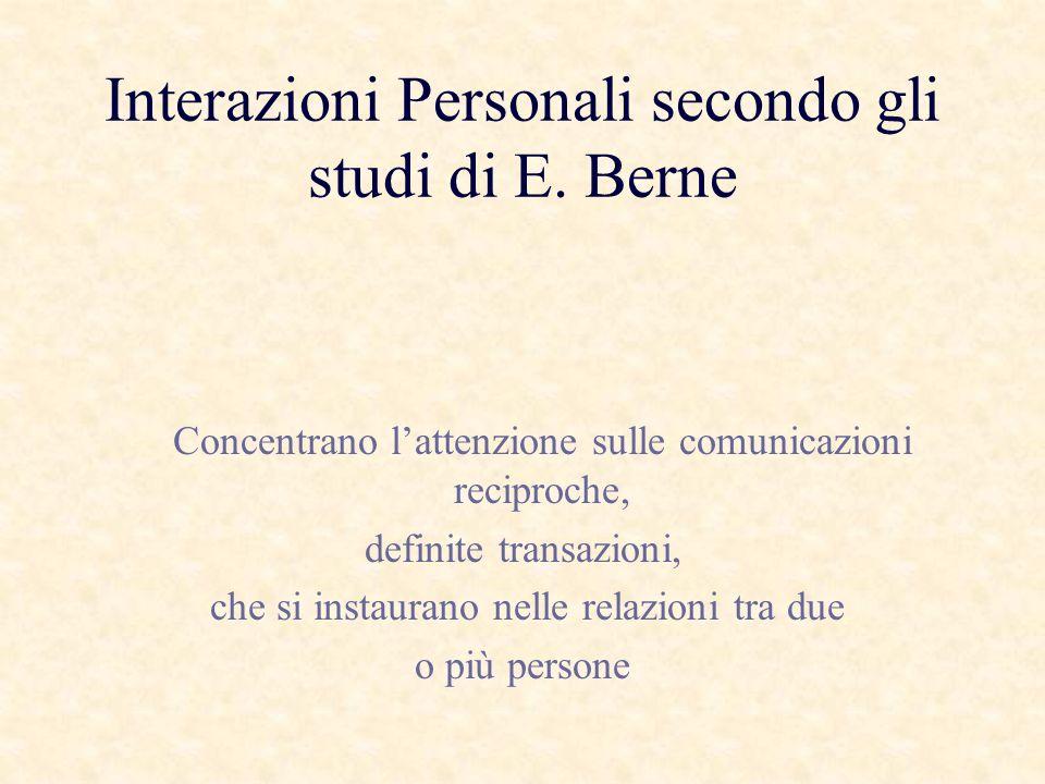 Interazioni Personali secondo gli studi di E. Berne