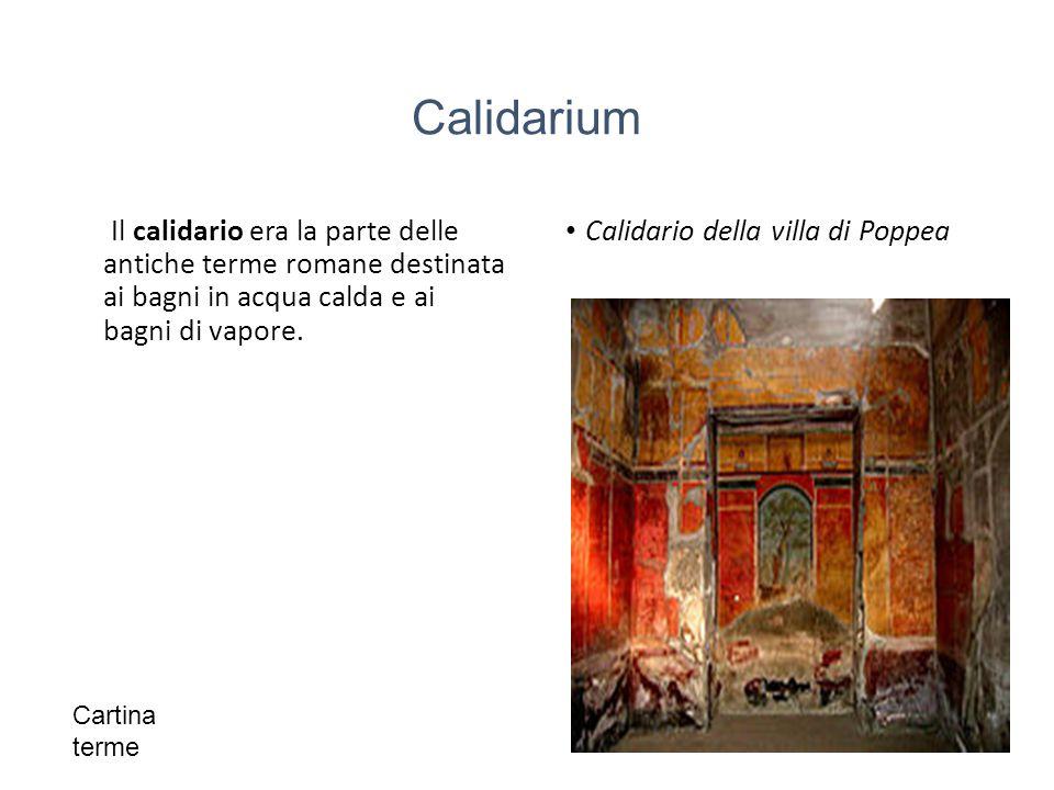 Calidario della villa di Poppea