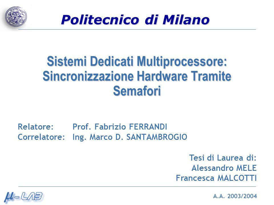 Sistemi Dedicati Multiprocessore: Sincronizzazione Hardware Tramite Semafori