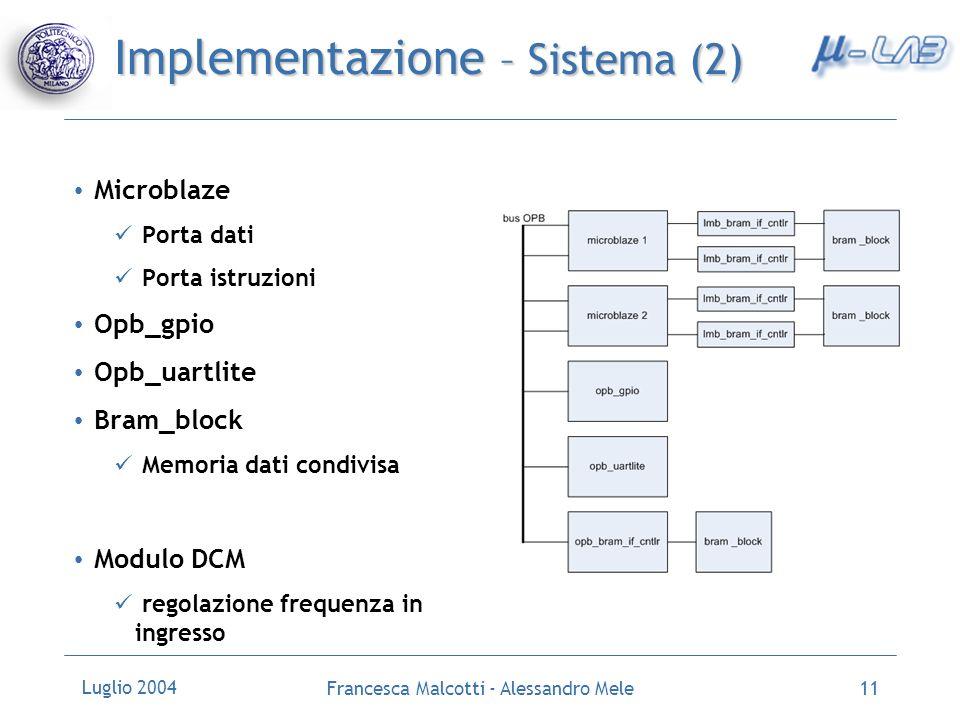 Implementazione – Sistema (2)