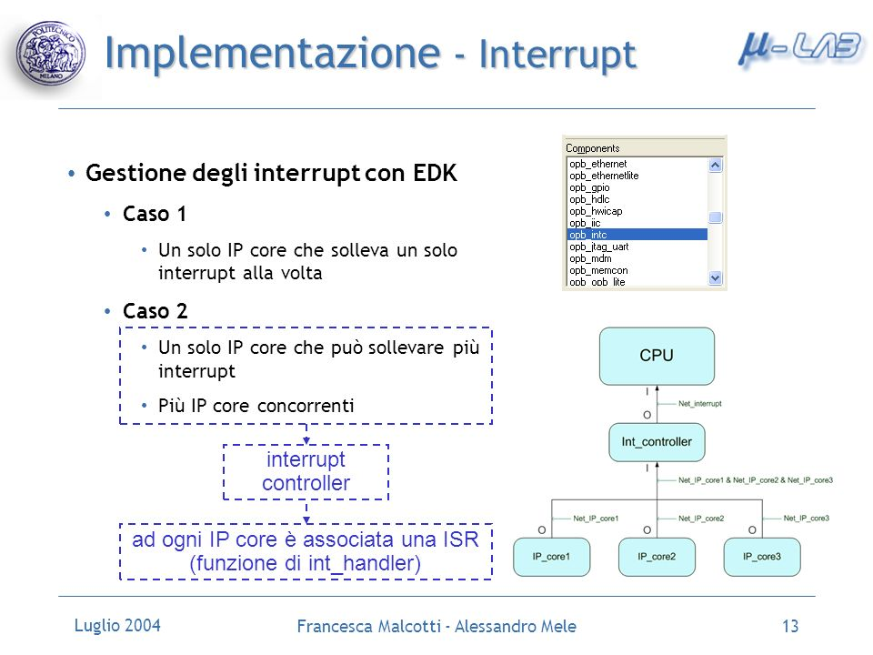 Implementazione - Interrupt