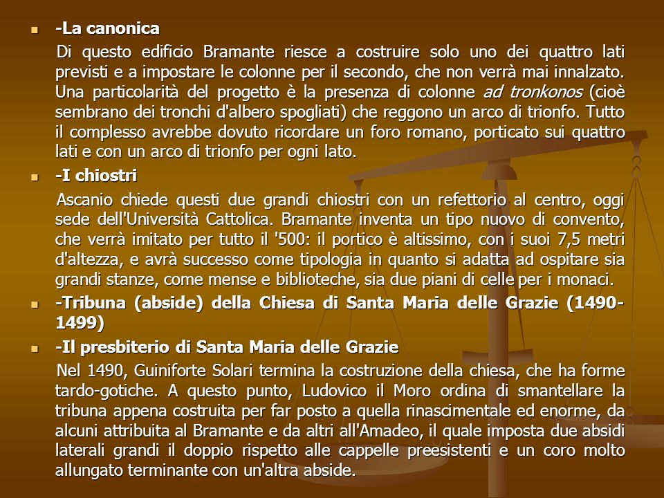 -La canonica