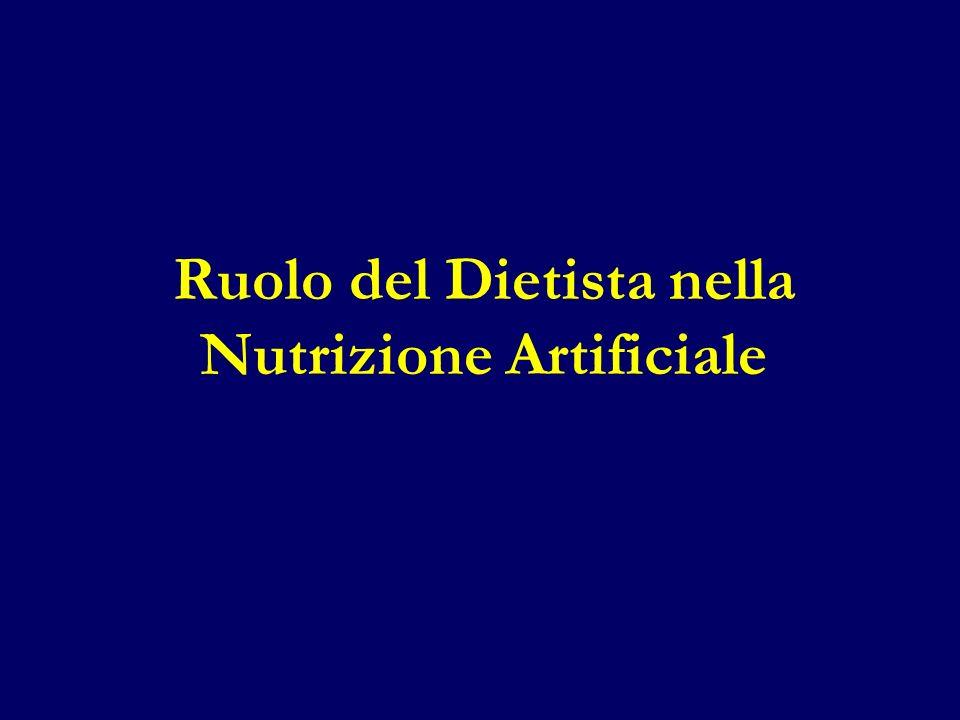 Ruolo del Dietista nella Nutrizione Artificiale