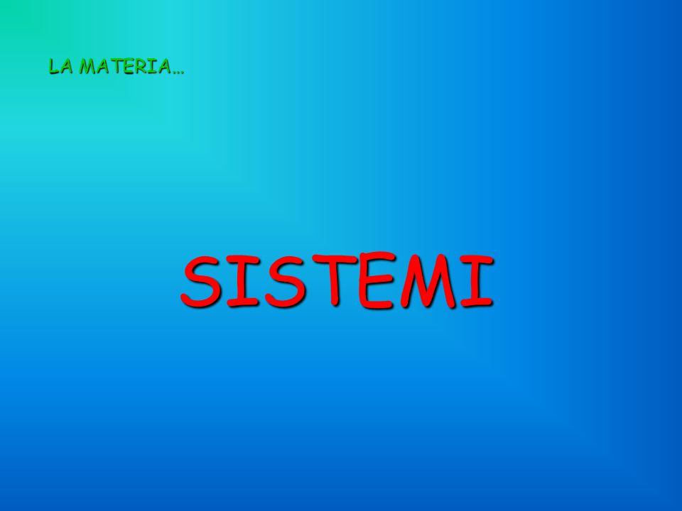 LA MATERIA… SISTEMI