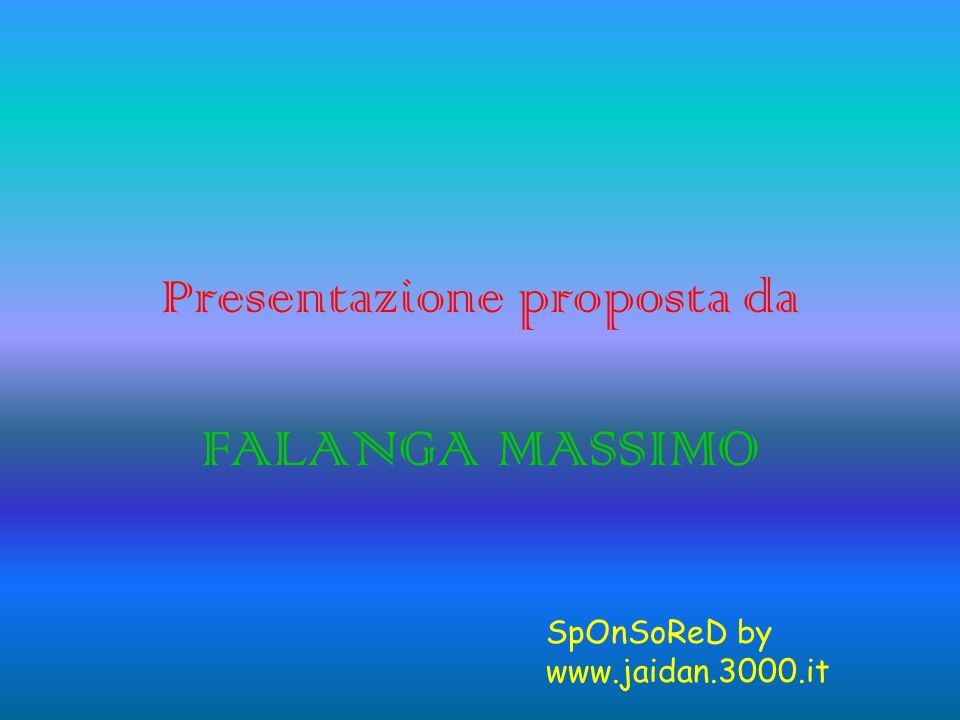Presentazione proposta da