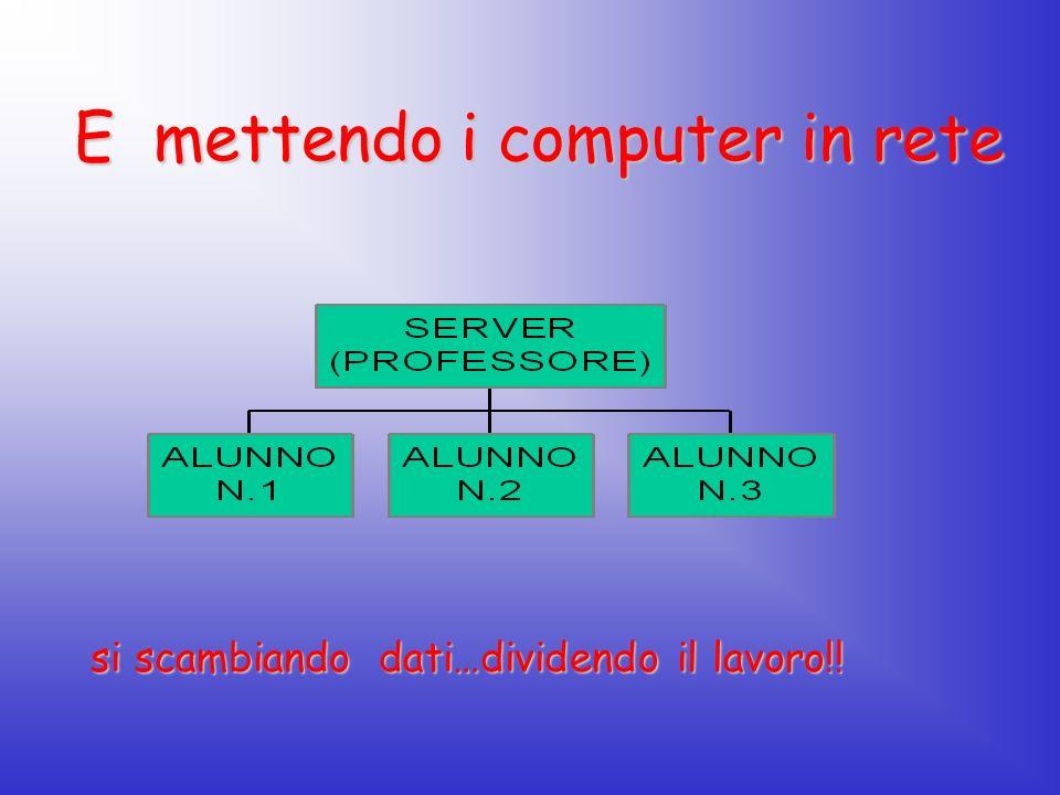 E mettendo i computer in rete