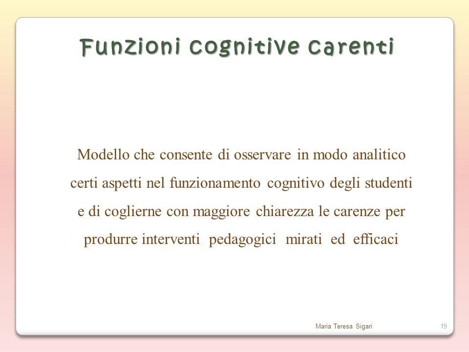 Funzioni cognitive carenti