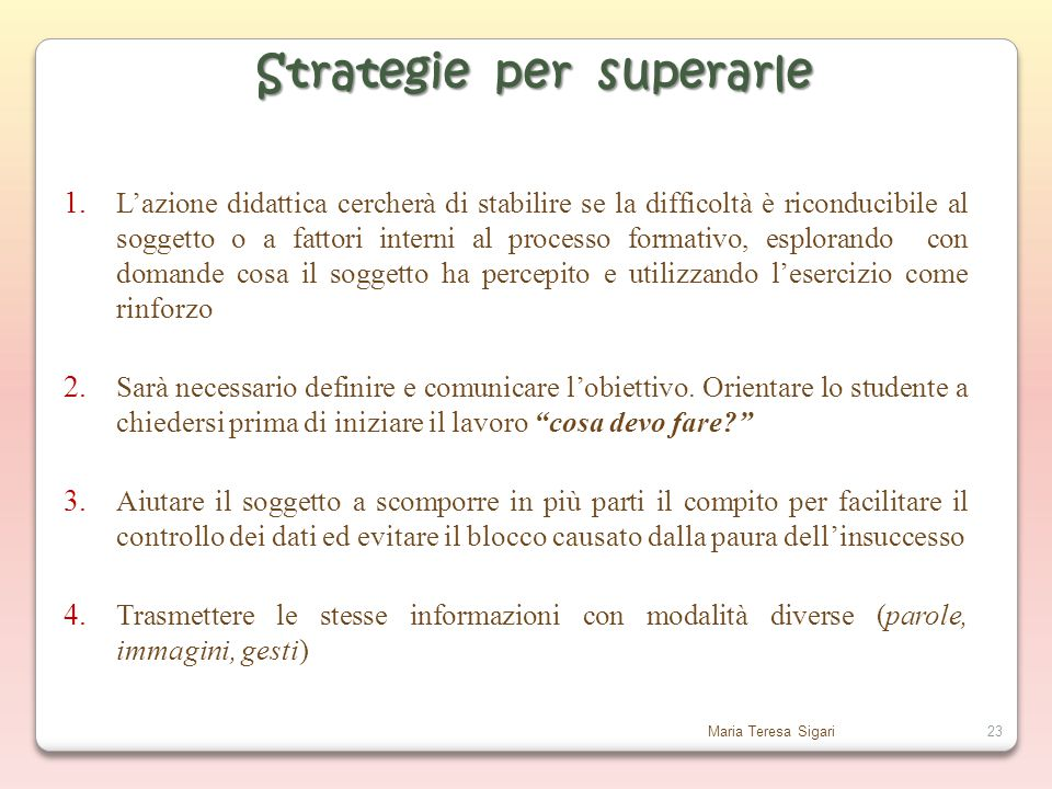 Strategie per superarle