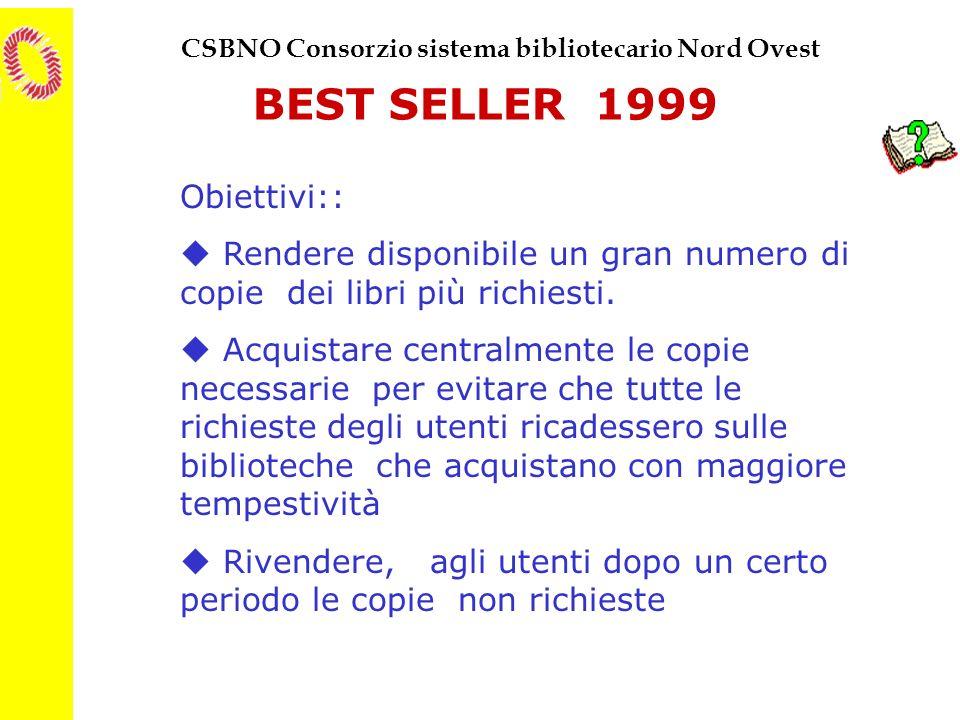 BEST SELLER 1999 Obiettivi::