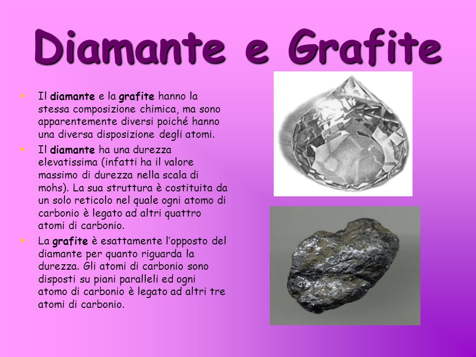 Diamante e Grafite