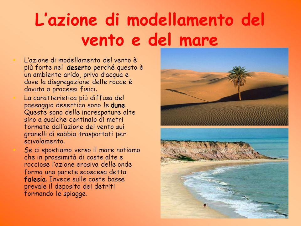 L'azione di modellamento del vento e del mare