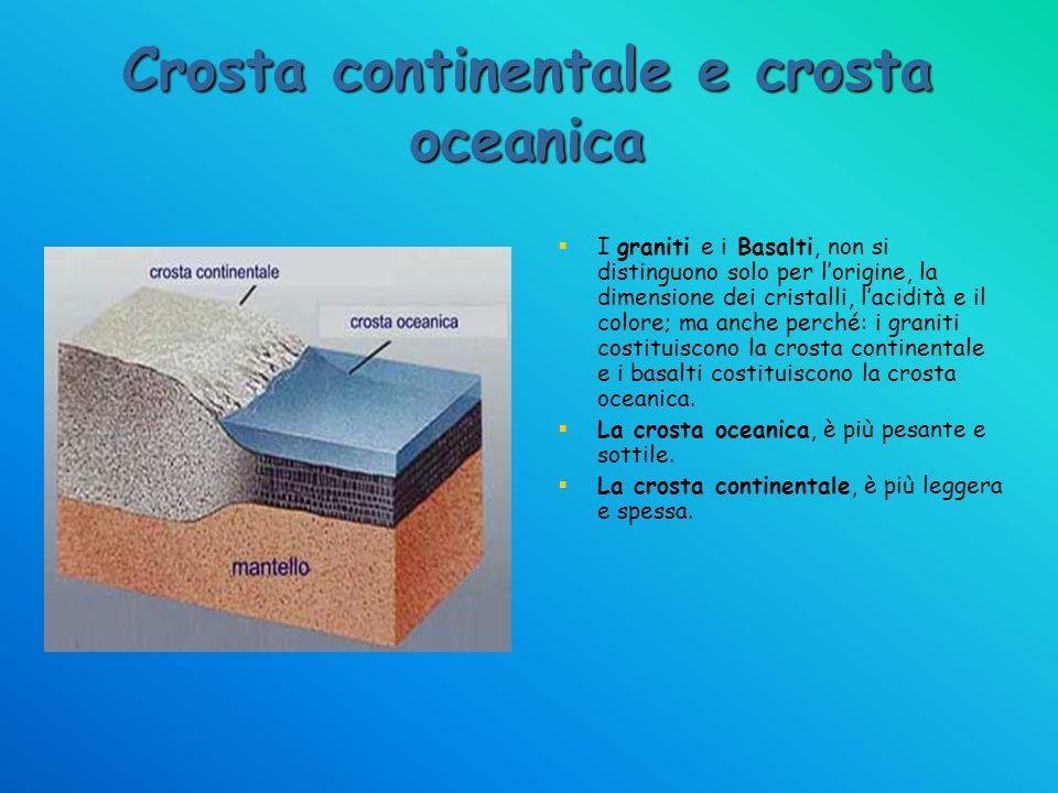 Crosta continentale e crosta oceanica