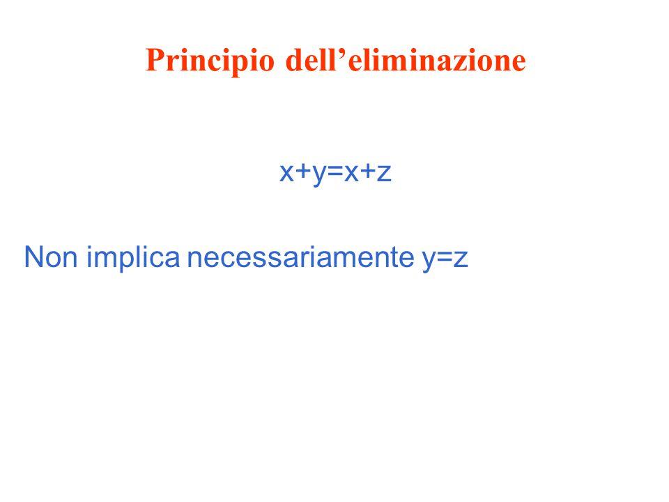 Principio dell'eliminazione