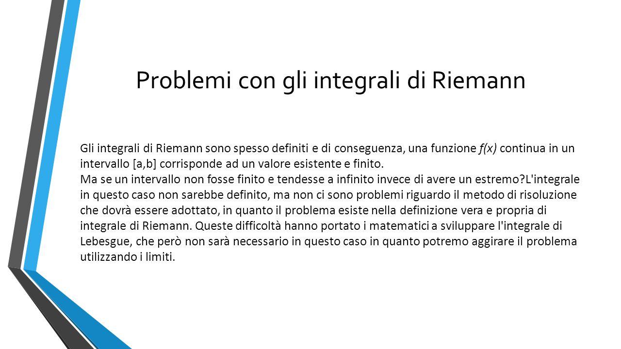 Problemi con gli integrali di Riemann