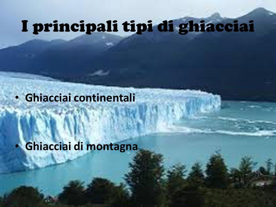 I principali tipi di ghiacciai
