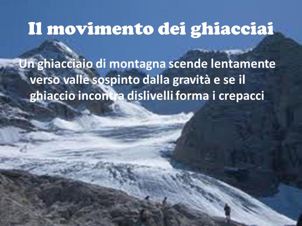 Il movimento dei ghiacciai