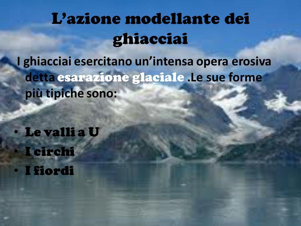 L'azione modellante dei ghiacciai