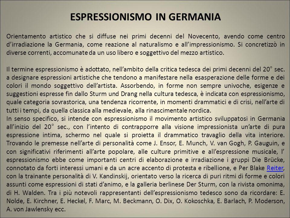 ESPRESSIONISMO IN GERMANIA