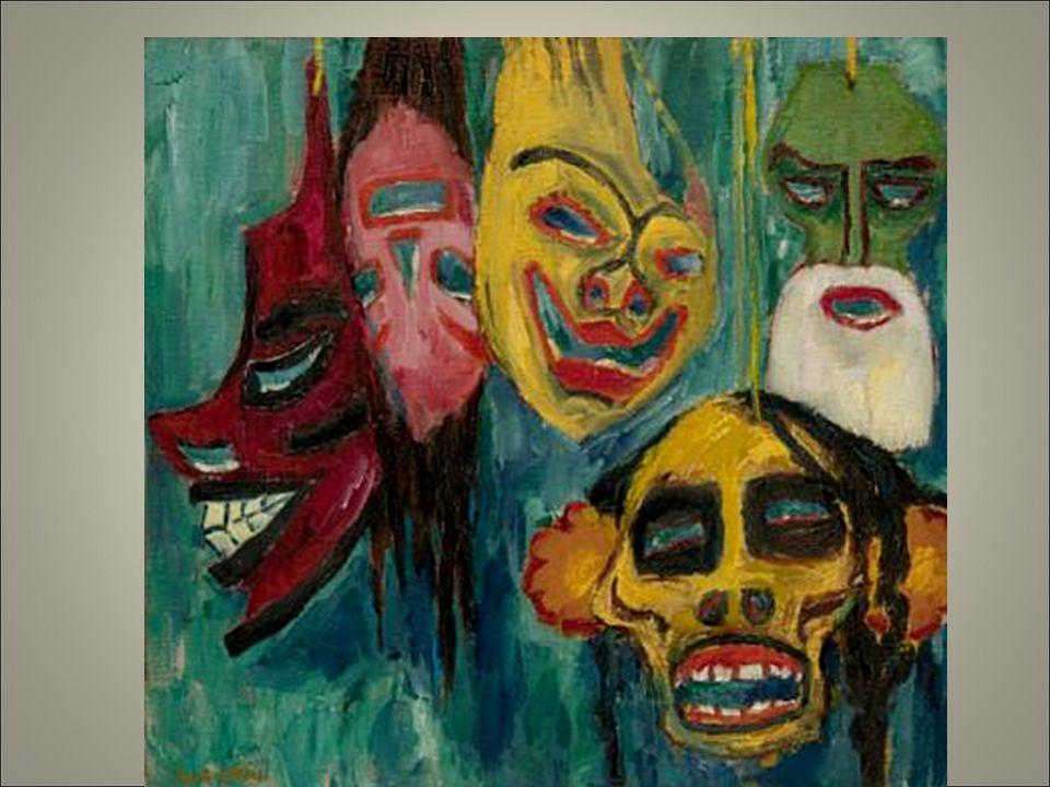 Nolde riferimento a ensor tema della maschera de doppio della disumanizzaz perdita e ricerca dell'identità.