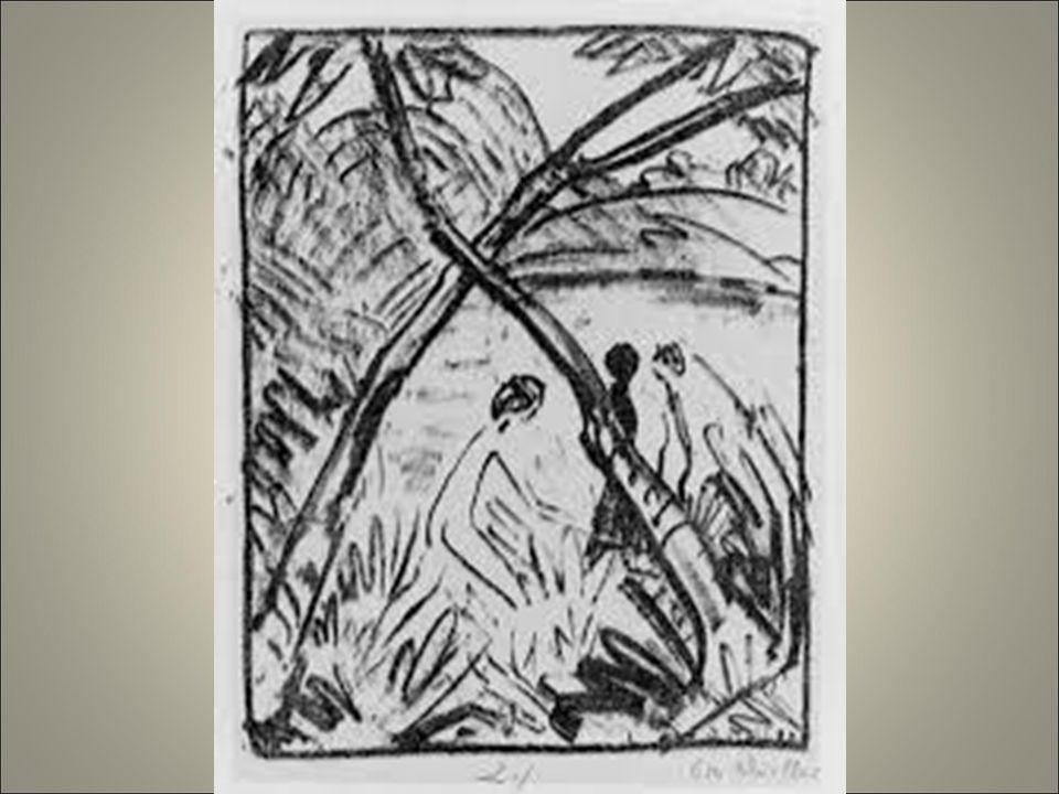 Mueller figure immerse nella natura disegno pulito e fluido senza nervosità .