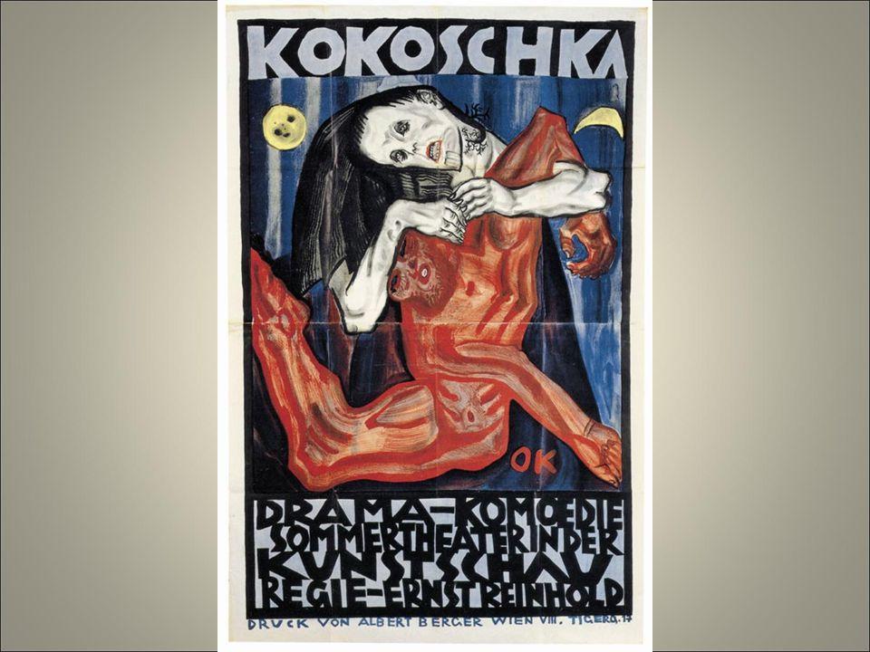 Koko1908 pietà litografia è anche drammaturgo il suo dramma «assassino, speranza delle donne», scritto da lui nel 1907presenta il rapporto uomo donna come tragica lotta dei sessi.