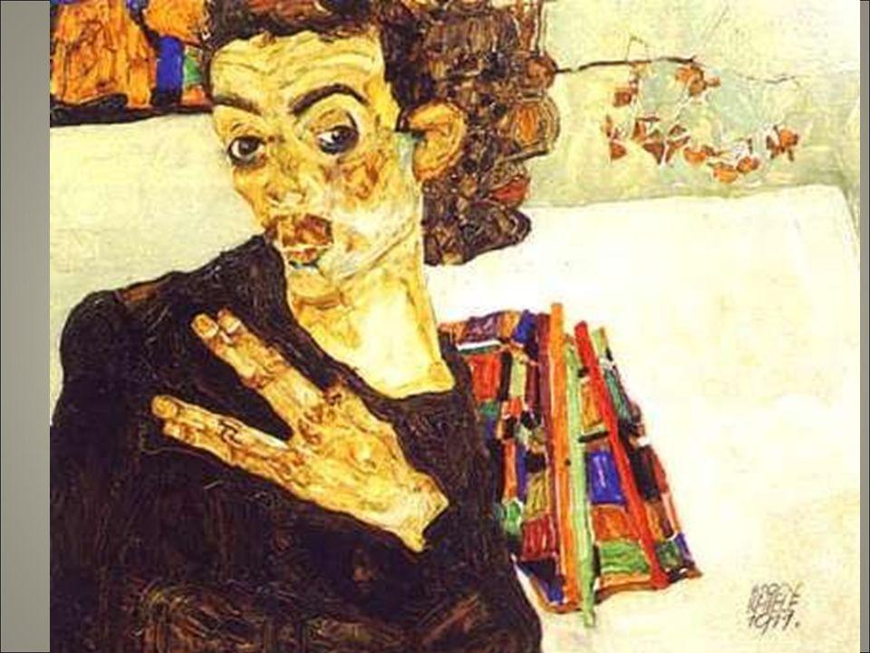 Schiele 1911 40 autor intro psico il volto non è al centro del dipinto pennellate luminose stese con gesti brevi e nervosi.