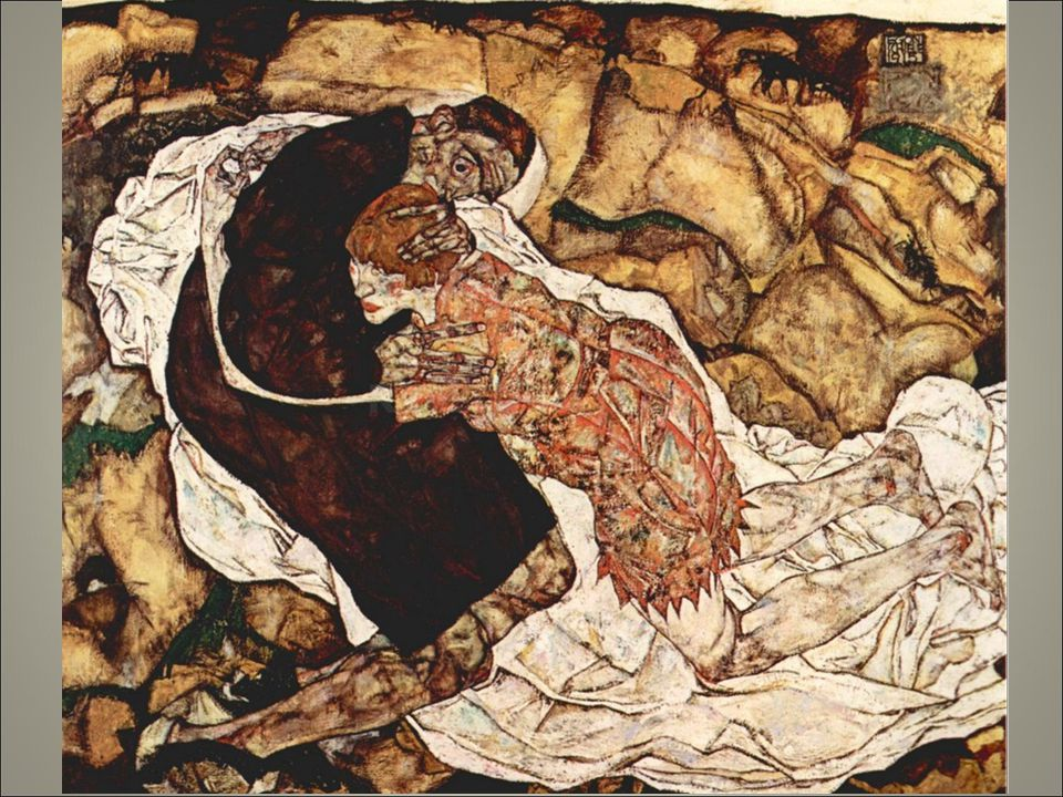 Schiele la morte e la donna si distingue per i suoi esiti ansiosi con figure rattrappite in singolari spasmi questo è un tema molto ricorrente
