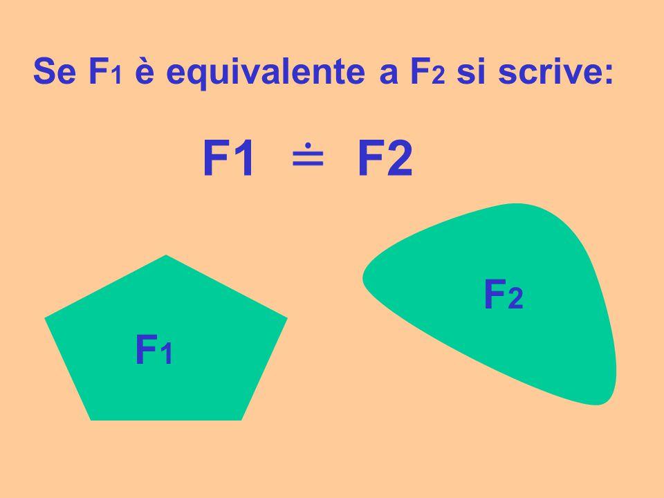 Se F1 è equivalente a F2 si scrive: