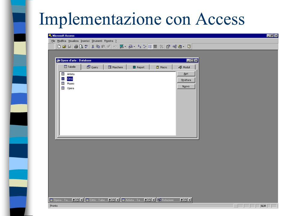 Implementazione con Access