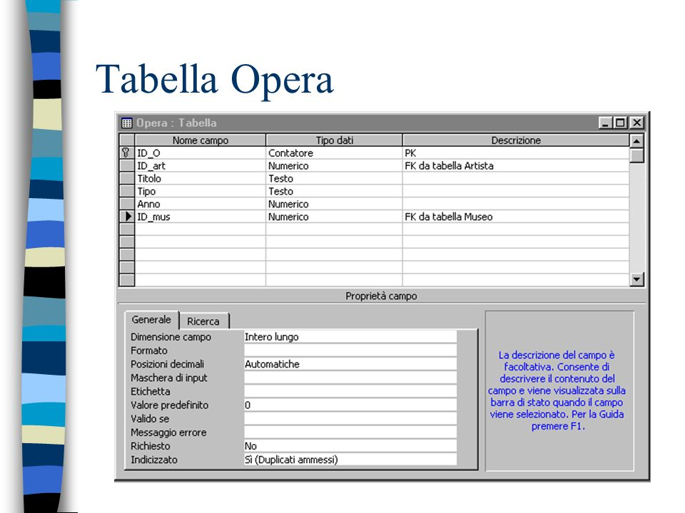 Tabella Opera