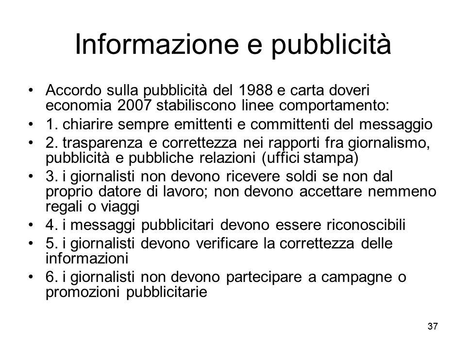 Informazione e pubblicità