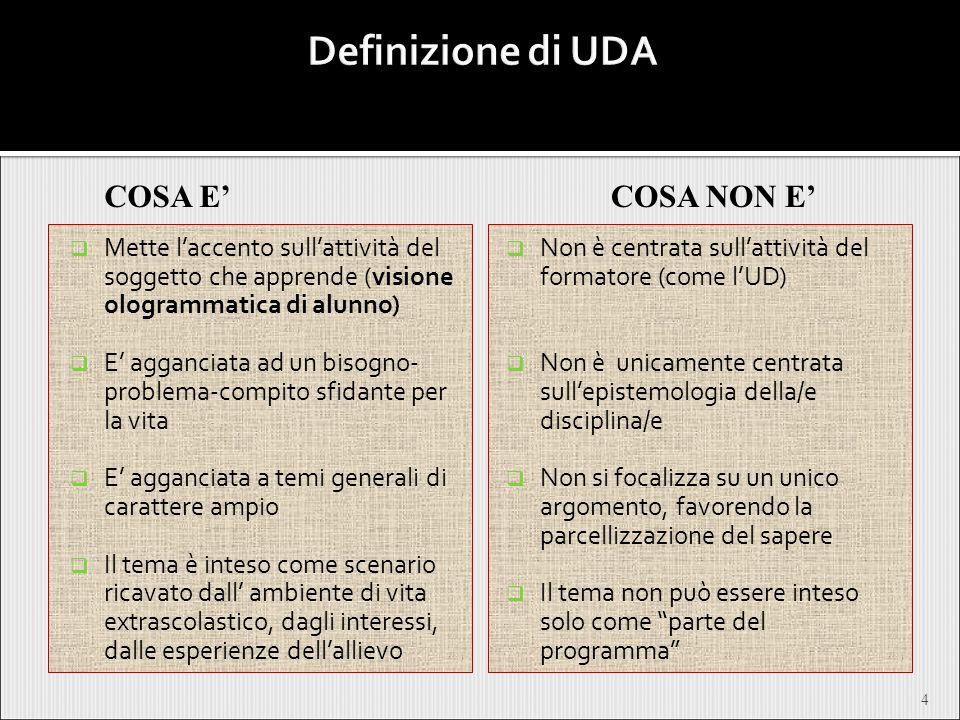 Definizione di UDA COSA E' COSA NON E'