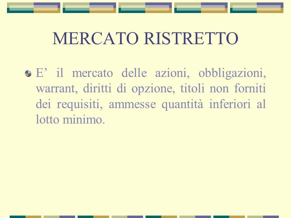 MERCATO RISTRETTO