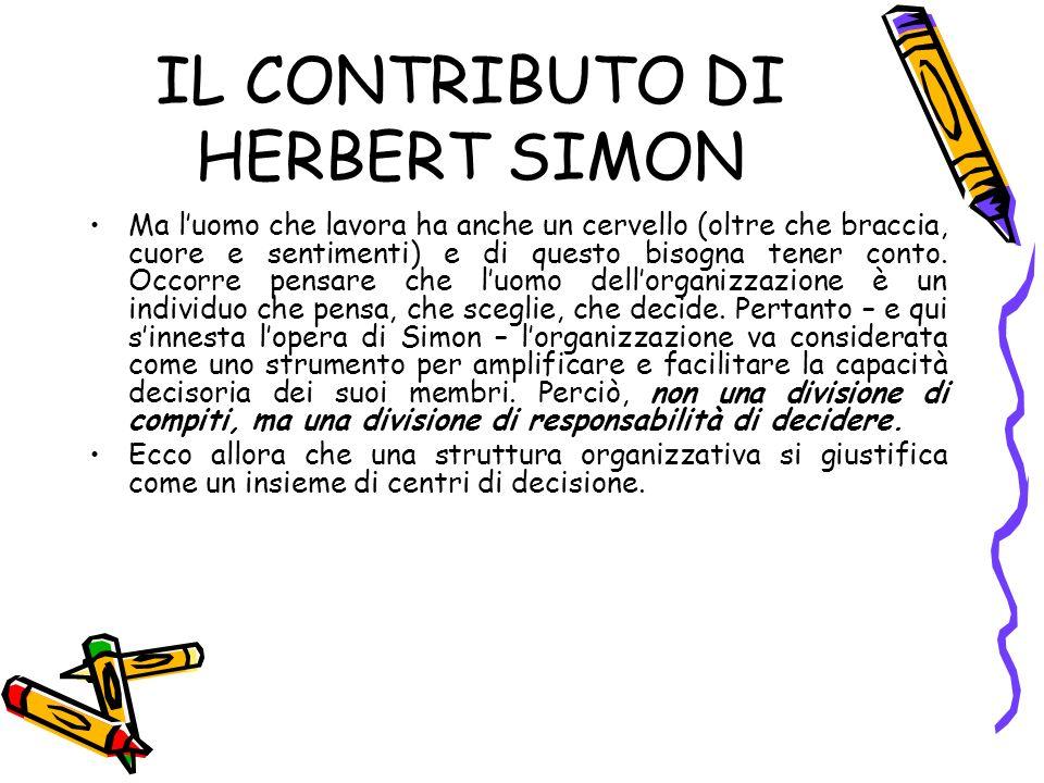 IL CONTRIBUTO DI HERBERT SIMON