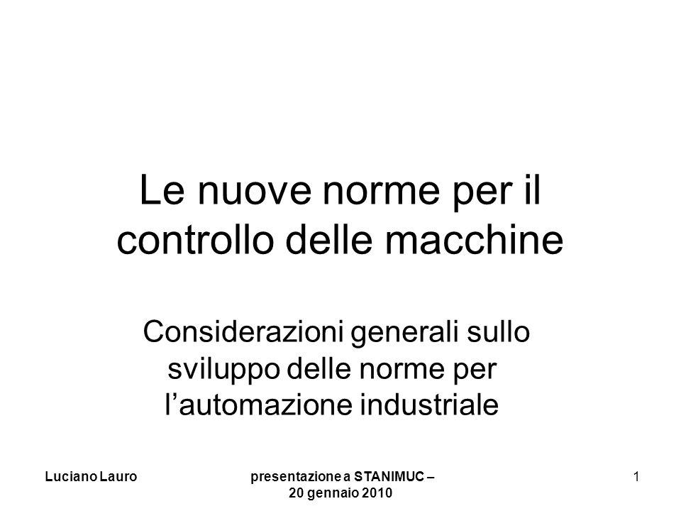 Le nuove norme per il controllo delle macchine