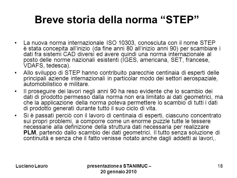 Breve storia della norma STEP