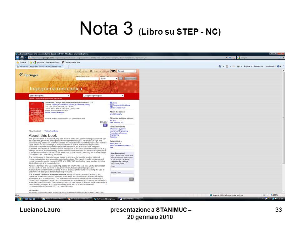 Nota 3 (Libro su STEP - NC)