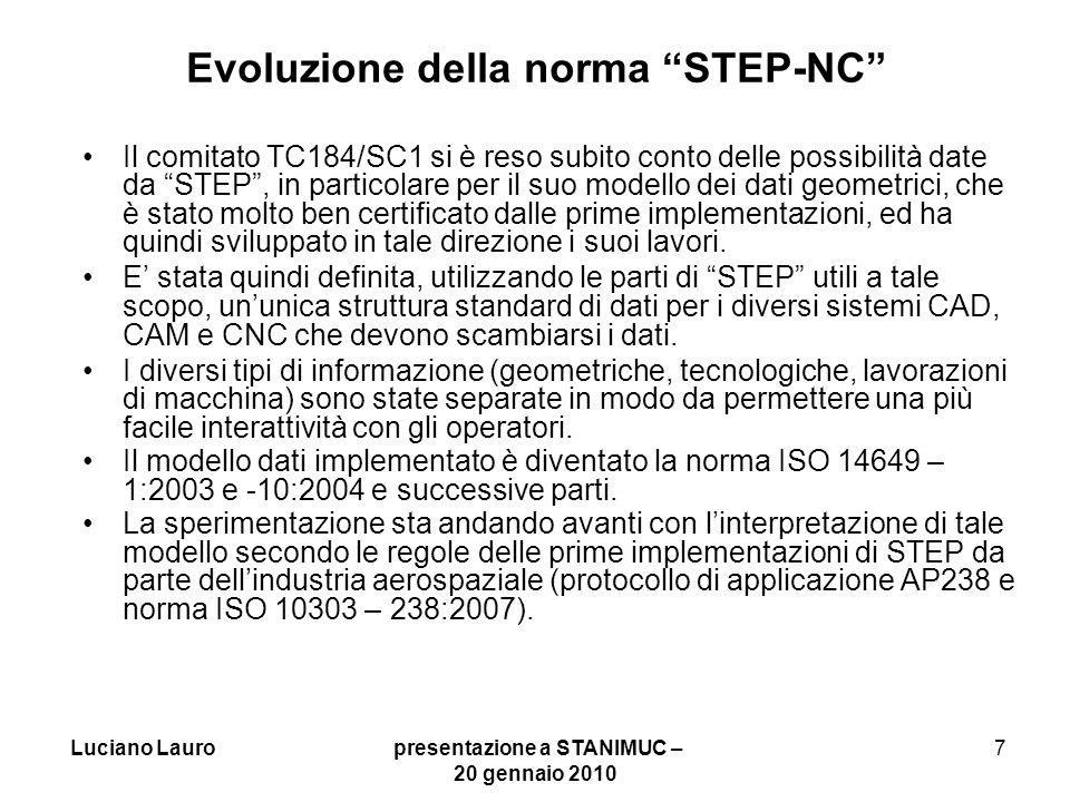 Evoluzione della norma STEP-NC