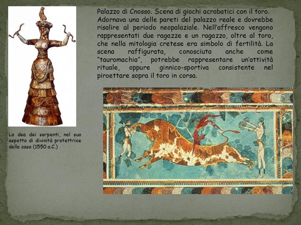 Palazzo di Cnosso. Scena di giochi acrobatici con il toro.