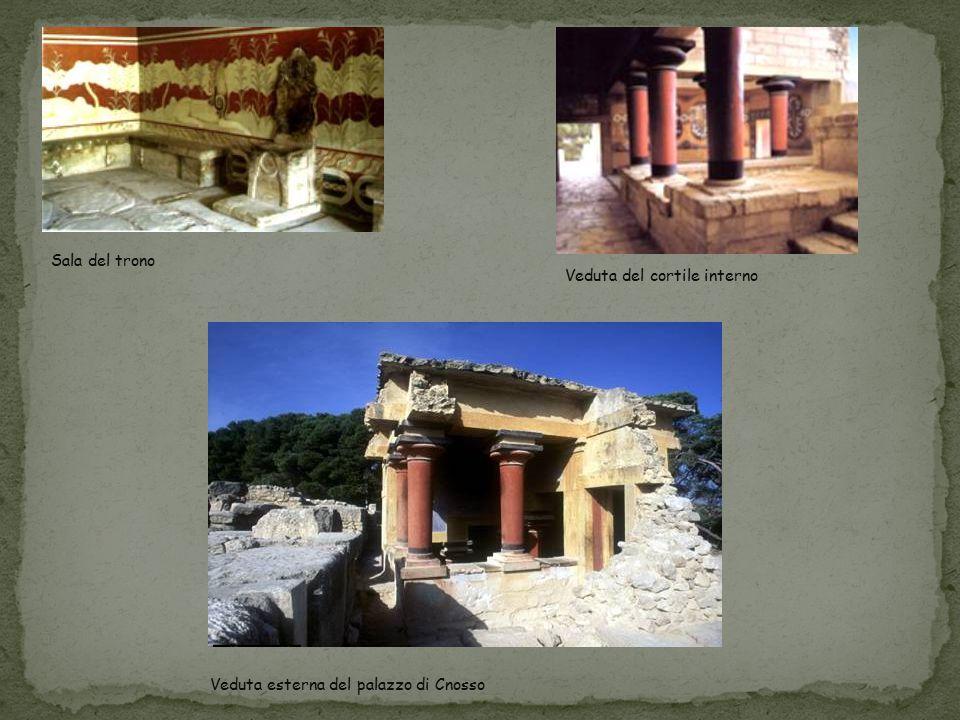Sala del trono Veduta del cortile interno Veduta esterna del palazzo di Cnosso