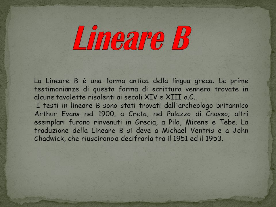 Lineare B