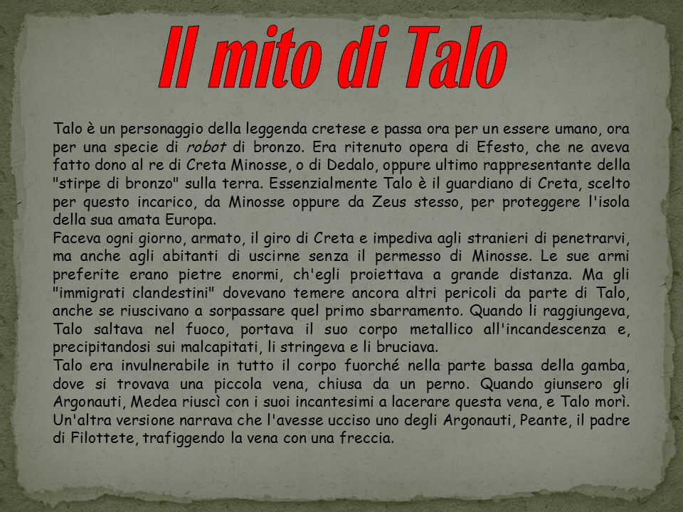 Il mito di Talo