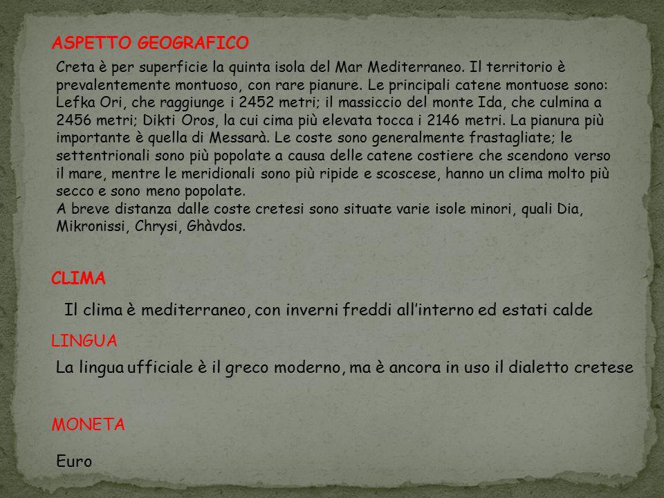 ASPETTO GEOGRAFICO CLIMA