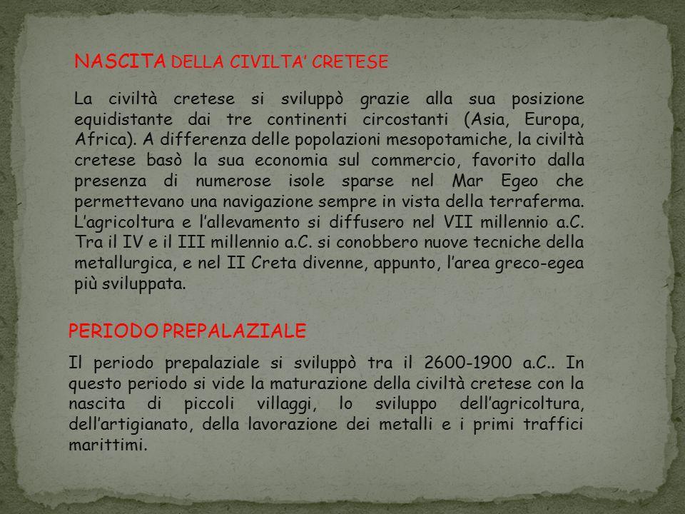 NASCITA DELLA CIVILTA' CRETESE