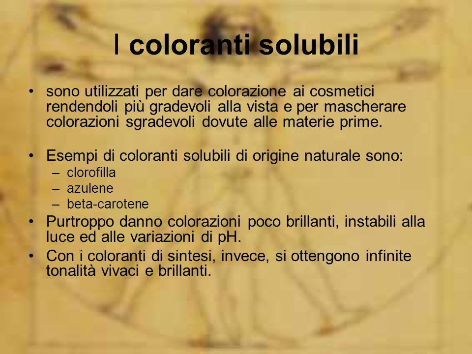 I coloranti solubili
