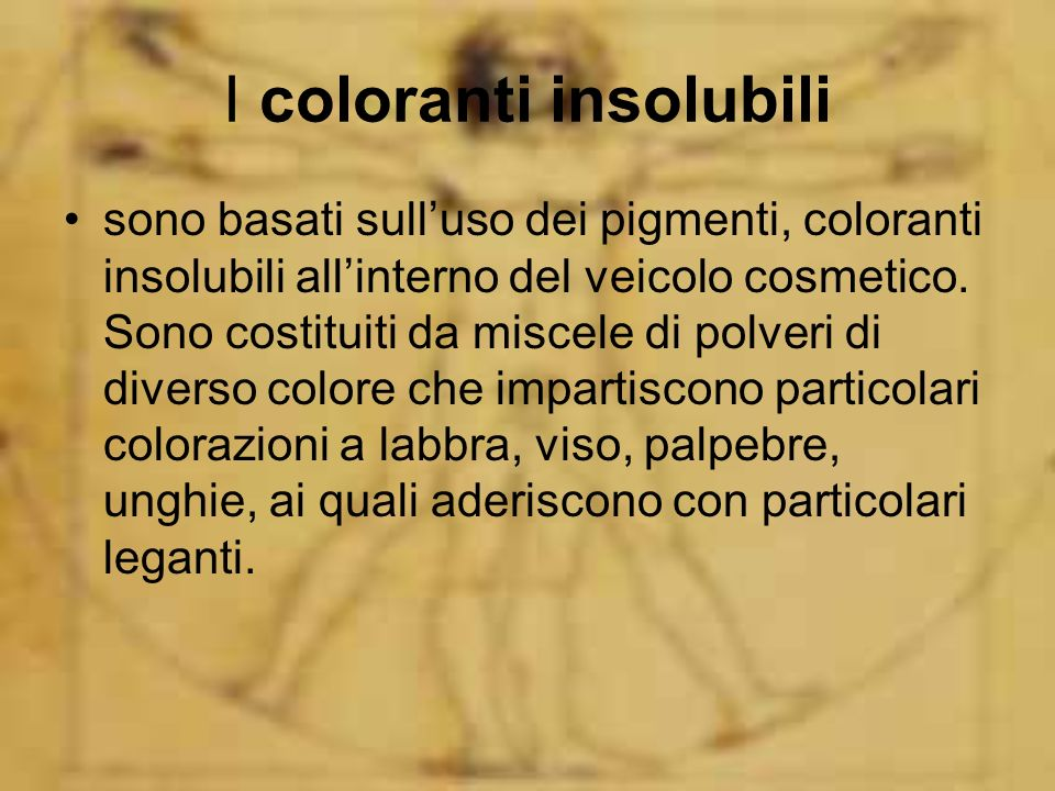 I coloranti insolubili