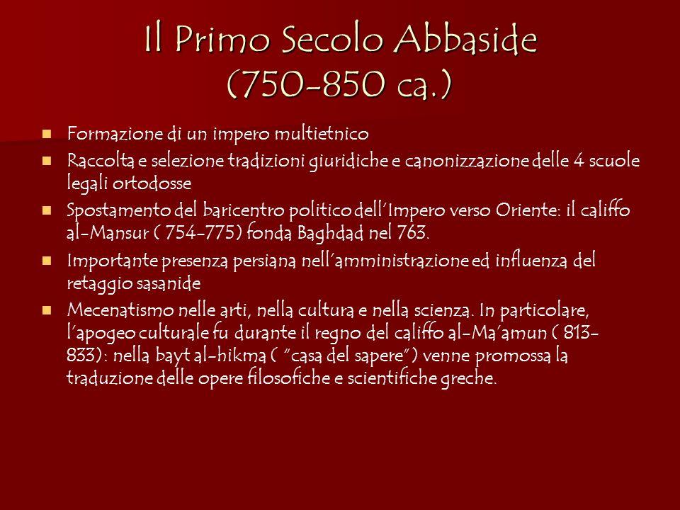 Il Primo Secolo Abbaside (750-850 ca.)