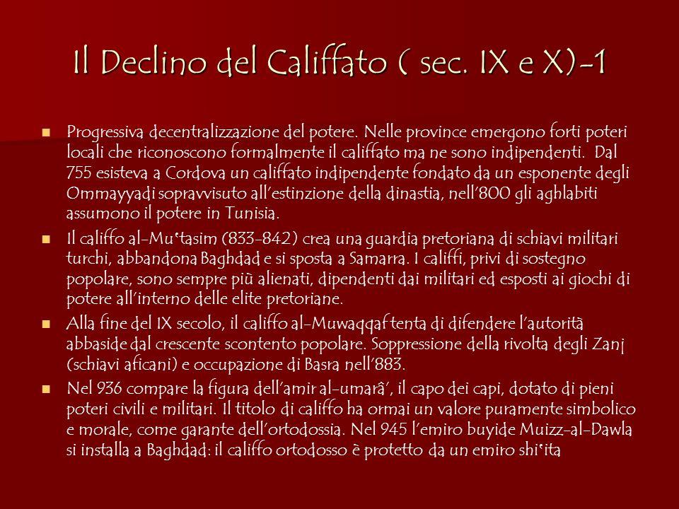 Il Declino del Califfato ( sec. IX e X)-1