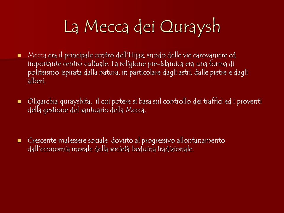La Mecca dei Quraysh